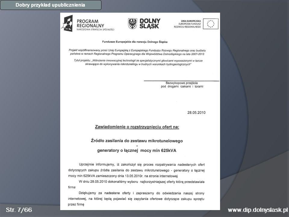 Str. 7/66www.dip.dolnyslask.pl Dobry przykład upublicznienia