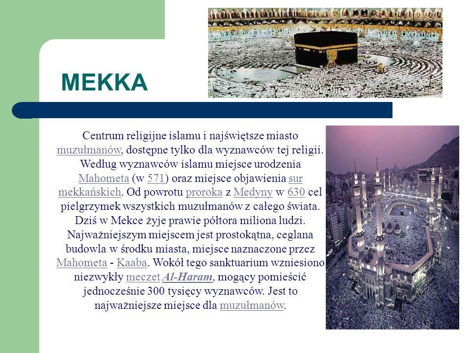 MAHOMET MahometMahomet (po arabsku Muhammad), prorok i twórca islamu, żył w latach 570-632. Urodził się w Mekce i zajmował handlem do czasu, gdy zaczą