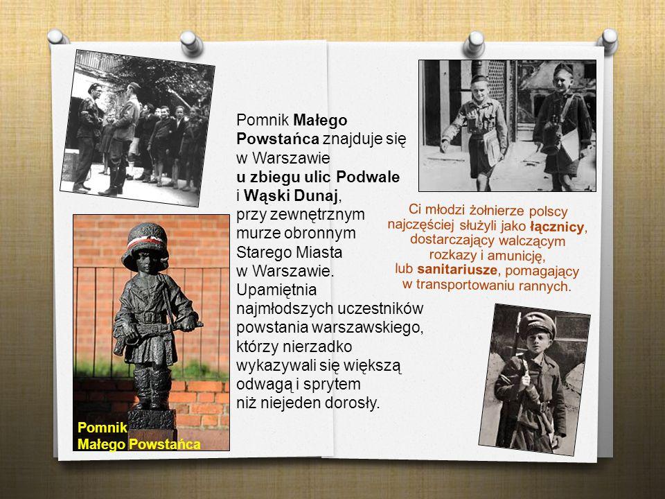 Ci młodzi żołnierze polscy najczęściej służyli jako łącznicy, dostarczający walczącym rozkazy i amunicję, lub sanitariusze, pomagający w transportowan