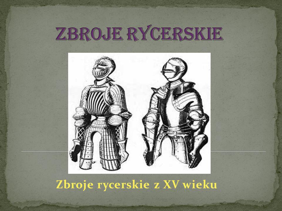 Zbroje rycerskie z XV wieku