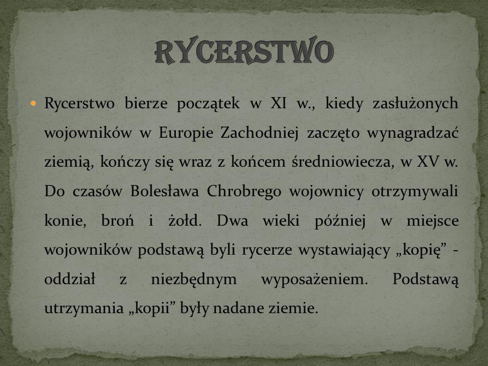Forma turniejów Istniało kilka rodzajów turniejów rycerskich.