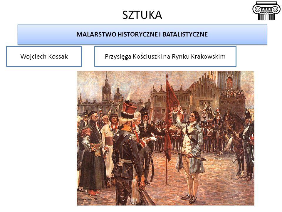 SZTUKA MALARSTWO HISTORYCZNE I BATALISTYCZNE Wojciech KossakPrzysięga Kościuszki na Rynku Krakowskim