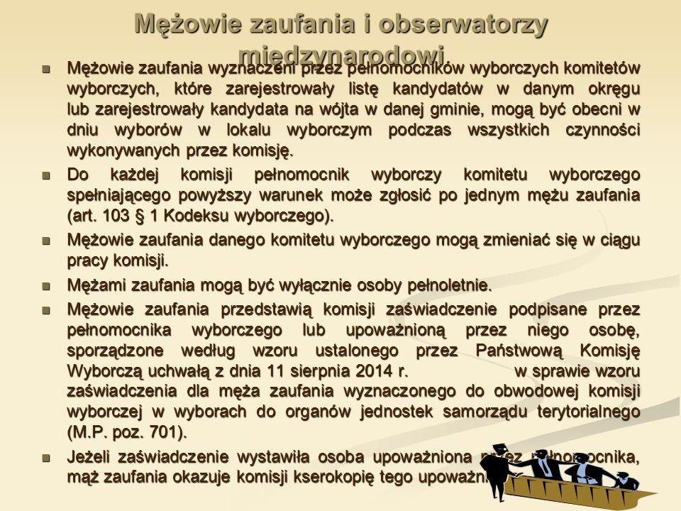 OBWODOWA KOMISJA WYBORCZA 1.protokół do rady gminy/miejskiej 2.