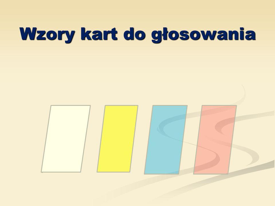 Wzory kart do głosowania