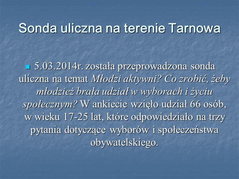 Sonda uliczna na terenie Tarnowa 5.03.2014r.