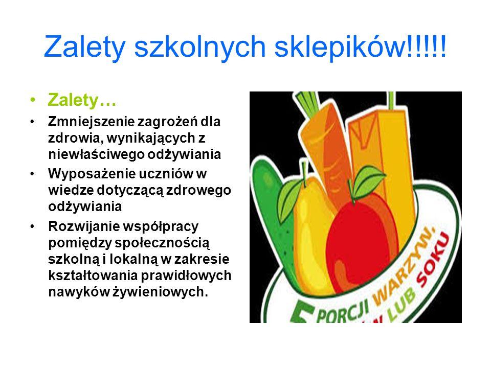 Sklepiki szkolne. Prawidłowe żywienie jest jednym z istotnych elementów wpływających korzystnie na zdrowie dziecka. Dzieci i młodzież powinny spożywać