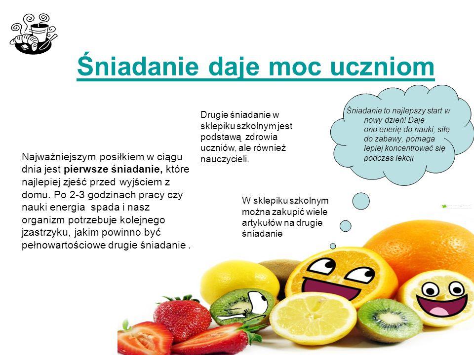 Napoje owocowo- warzywne W szkolnych sklepikach właściciele wprowadzają coraz więcej napoi z owoców i warzyw, które zawierają dużo cennych minerałów i