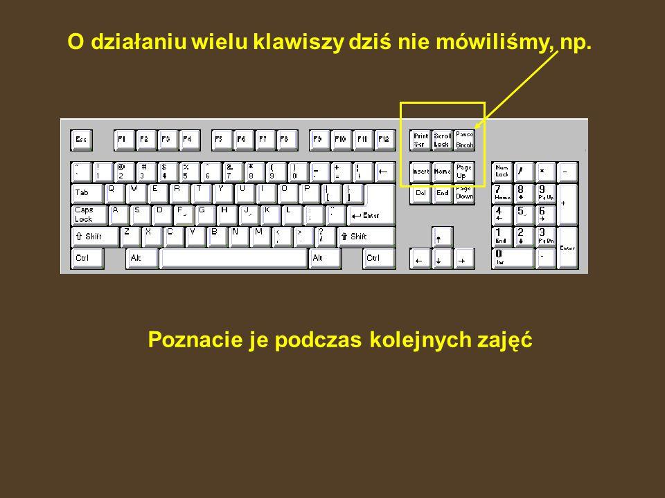 F1 – F12 – klawisze funkcyjne. Praktycznie w każdym programie służą do czegoś innego. Czasami mogą się pod nimi ukrywać funkcje, które wymagają szybki