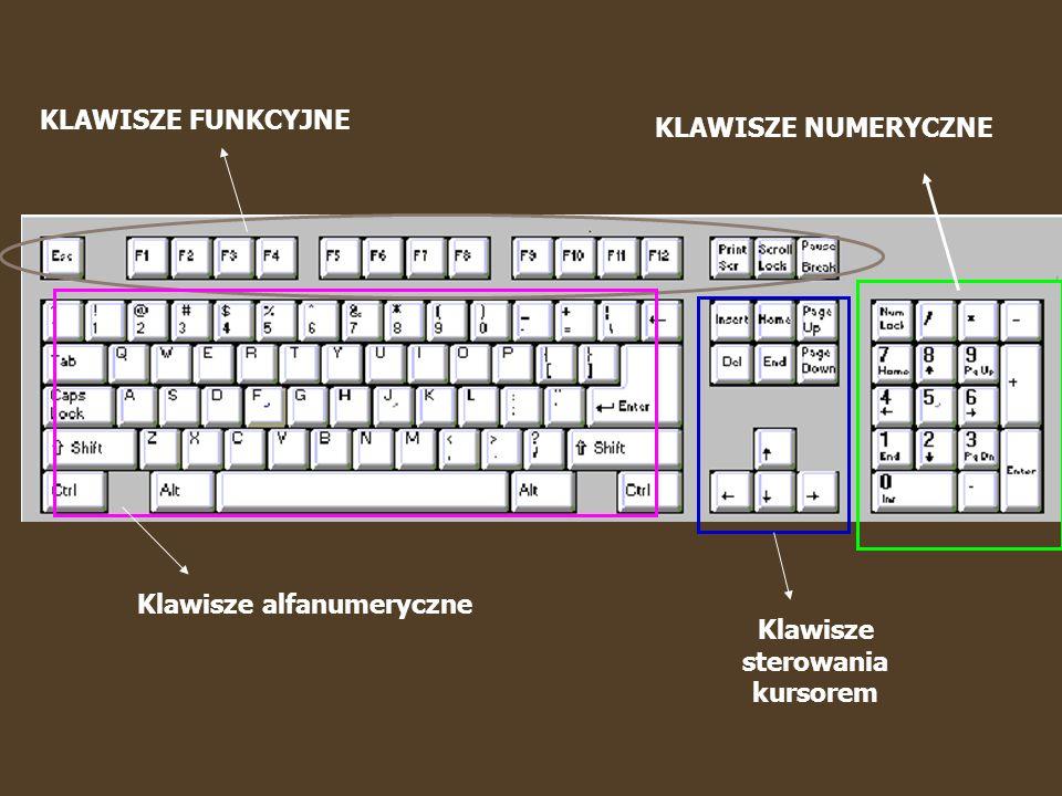 F1 – F12 – klawisze funkcyjne.Praktycznie w każdym programie służą do czegoś innego.