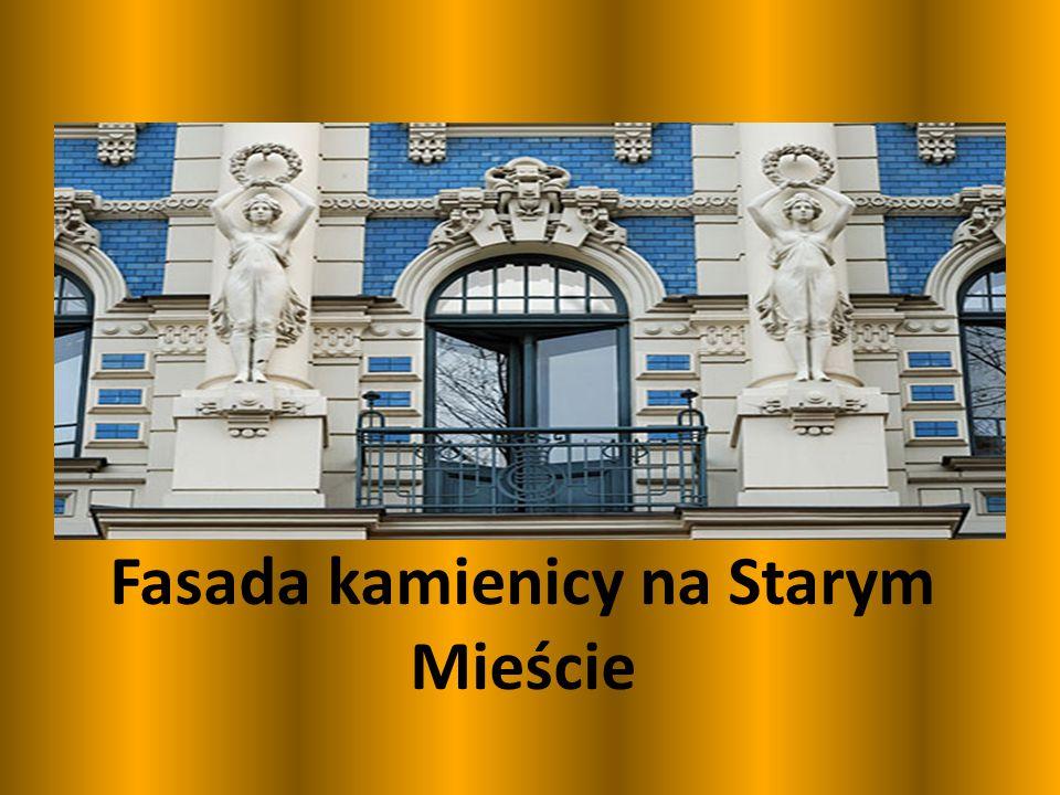 Fasada kamienicy na Starym Mieście