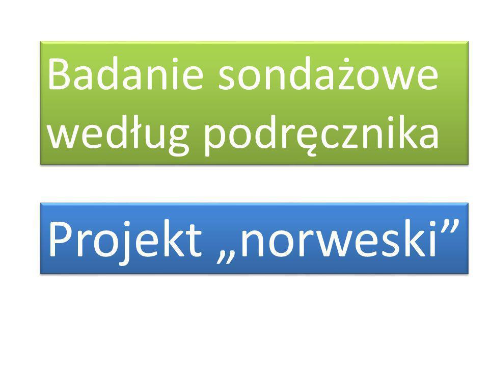 """Badanie sondażowe według podręcznika Projekt """"norweski"""