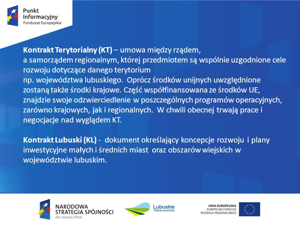 Program Operacyjny Infrastruktura i Środowisko Podstawowe zasady:  krajowy program wspierający gospodarkę niskoemisyjną, ochronę środowiska, przeciwdziałanie i adaptację do zmian klimatu, transport i bezpieczeństwo energetyczne.