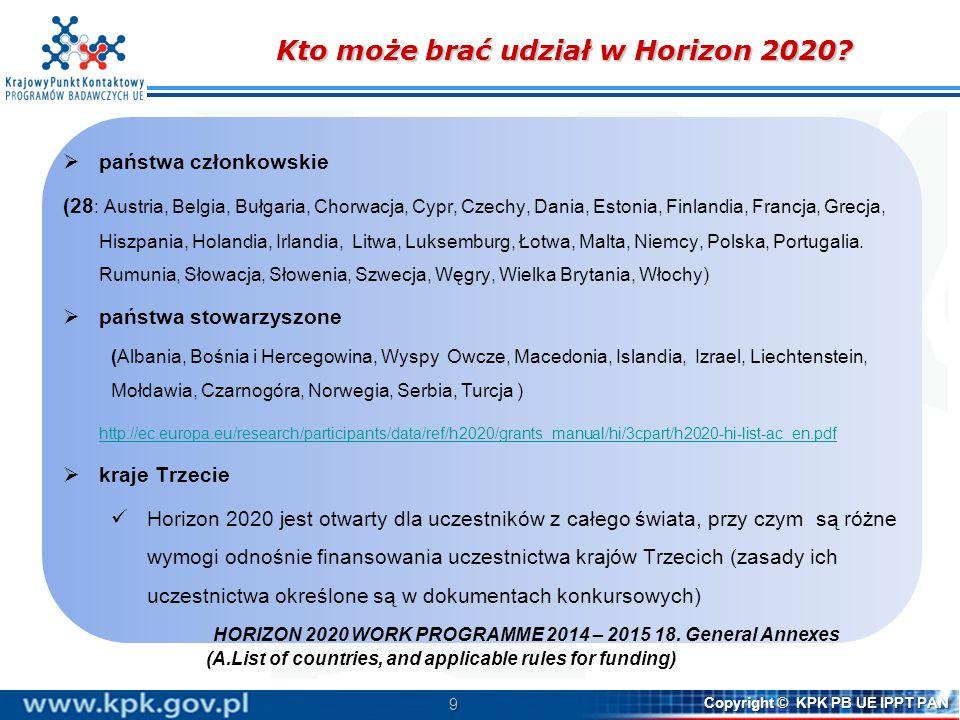 Struktura Programu Pracy (trzy części): (2) Call – Water Innovation: boosting its value for Europe
