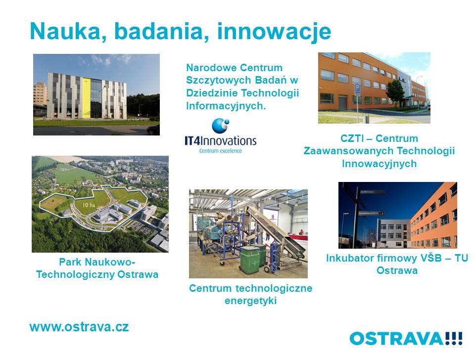 Nauka, badania, innowacje Park Naukowo- Technologiczny Ostrawa Narodowe Centrum Szczytowych Badań w Dziedzinie Technologii Informacyjnych. www.ostrava