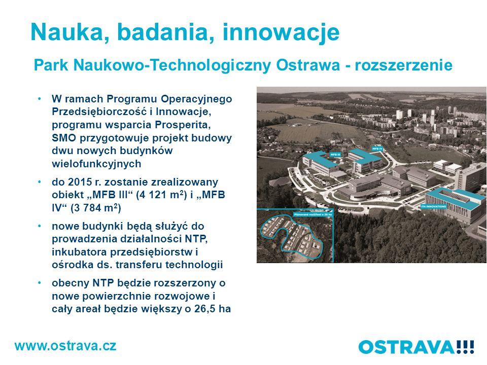 www.ostrava.cz Park Naukowo-Technologiczny Ostrawa - rozszerzenie W ramach Programu Operacyjnego Przedsiębiorczość i Innowacje, programu wsparcia Pros