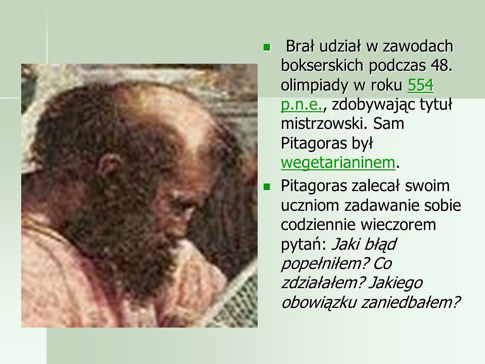 Powszechnie przyjmuje się jednak, że Pitagoras urodził się na Samos jako syn kupca. W Krotonie w Wielkiej Grecji założył szkołę pitagorejczyków o char