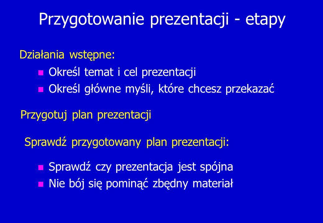Wyświetlenie aktualnego slajdu Rodzaje widoków Pokaz od bieżącego slajdu