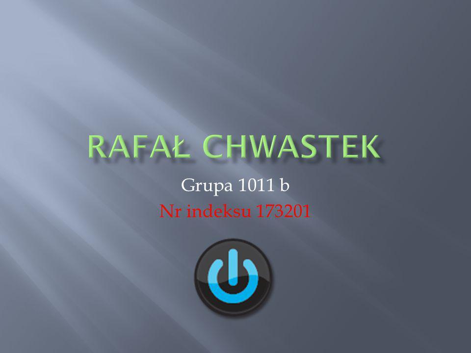 Grupa 1011 b Nr indeksu 173201