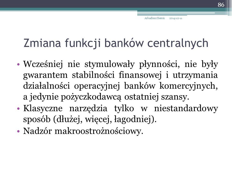 Wcześniej nie stymulowały płynności, nie były gwarantem stabilności finansowej i utrzymania działalności operacyjnej banków komercyjnych, a jedynie pożyczkodawcą ostatniej szansy.