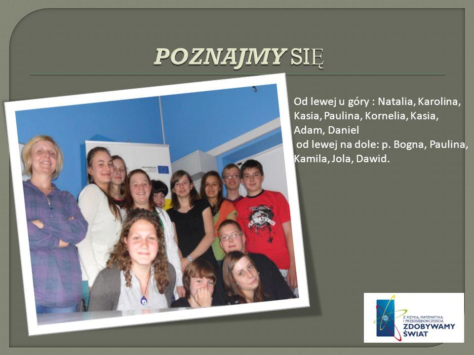 Od lewej u góry : Natalia, Karolina, Kasia, Paulina, Kornelia, Kasia, Adam, Daniel od lewej na dole: p.