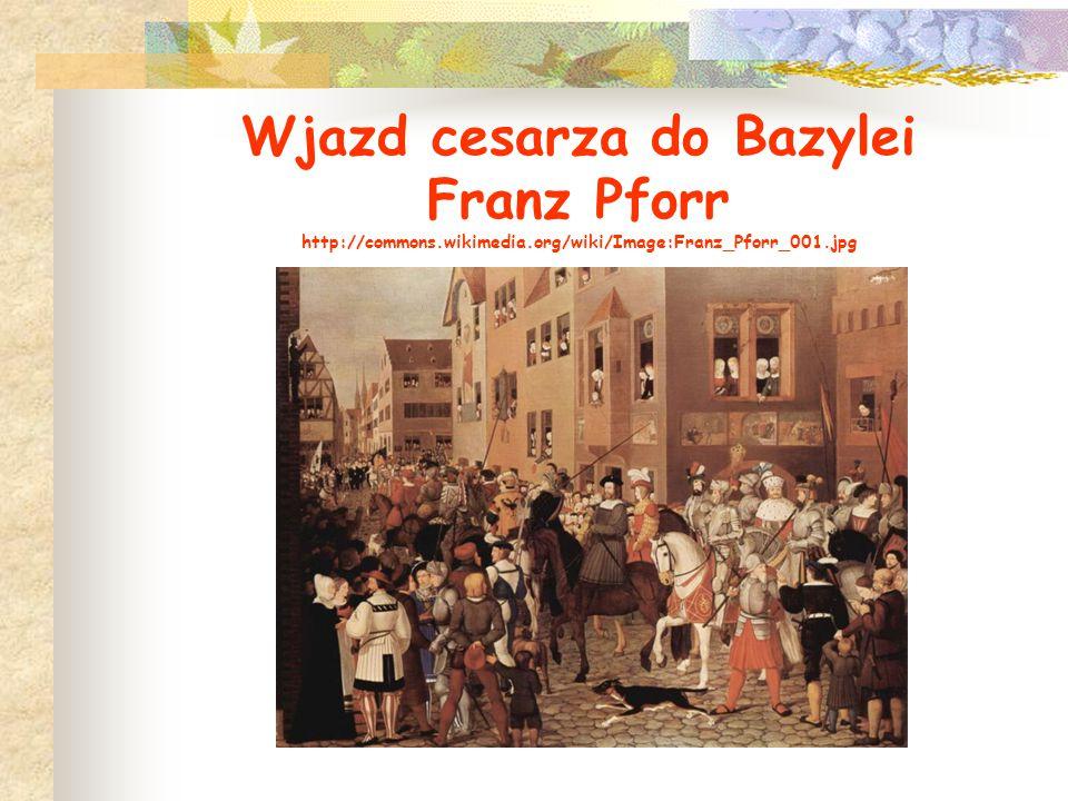 Wjazd cesarza do Bazylei Franz Pforr http://commons.wikimedia.org/wiki/Image:Franz_Pforr_001.jpg