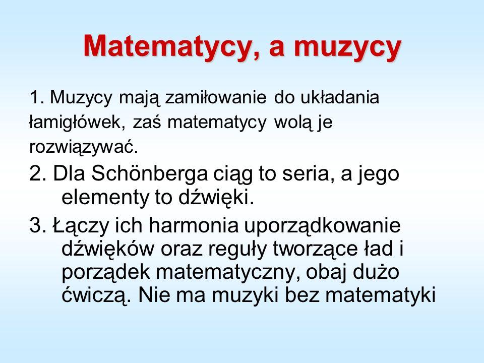 Matematycy, a muzycy 1.