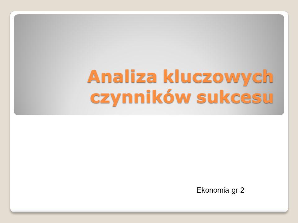 Analiza kluczowych czynników sukcesu Ekonomia gr 2