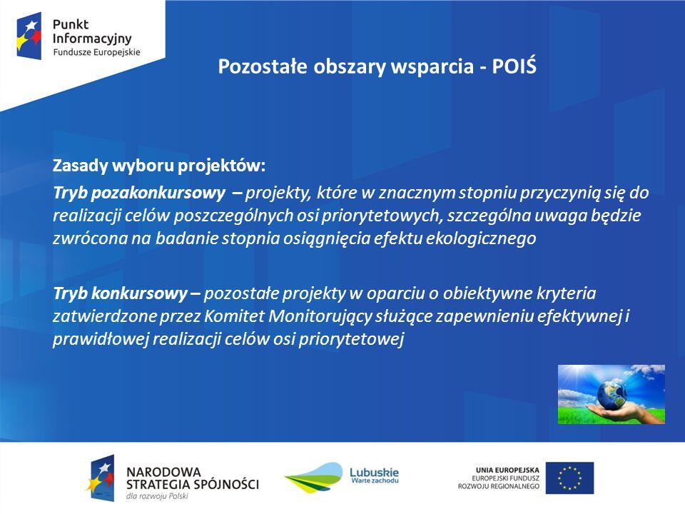 Pozostałe obszary wsparcia - POPC Cel szczegółowy 4: Zwiększenie dostępności i wykorzystania informacji sektora publicznego 1)Zwiększenie dostępności informacji sektora publicznego W ramach działania finansowane będą projekty usprawniające podaż ISP: -Opisywanie ISP metadanymi wg Określonych standardów -Dostosowywanie informacji do formatów umożliwiających odczyt maszynowy -Powiązanie systemów dziedzinowych z krajowymi i zagranicznymi -Poprawę jakości danych -Udostępnienie informacji on-line za pomocą profesjonalnych narzędzi -Zapewnienie elektronicznego dostępu on-line do rejestrów państwowych -Zapewnienie bezpieczeństwa systemów udostępniających ISP -Zapewnienie odpowiedniego poziomu usług udostępniania -Digitalizację ISP, w szczególności zasobów kultury i nauki -Budowę lub rozbudowę infrastruktury na potrzeby przechowywania informacji