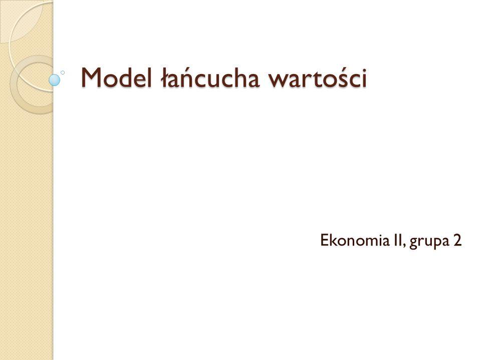 Model łańcucha wartości Ekonomia II, grupa 2