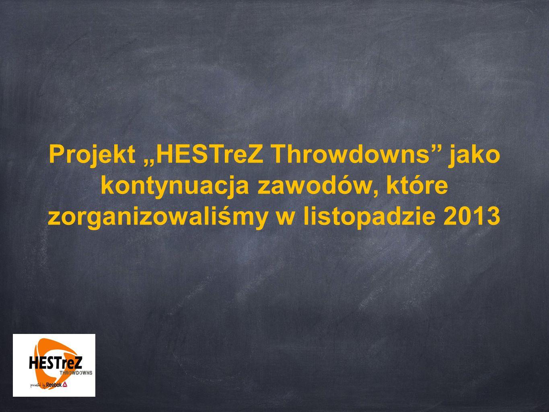 """Projekt """"HESTreZ Throwdowns"""" jako kontynuacja zawodów, które zorganizowaliśmy w listopadzie 2013"""