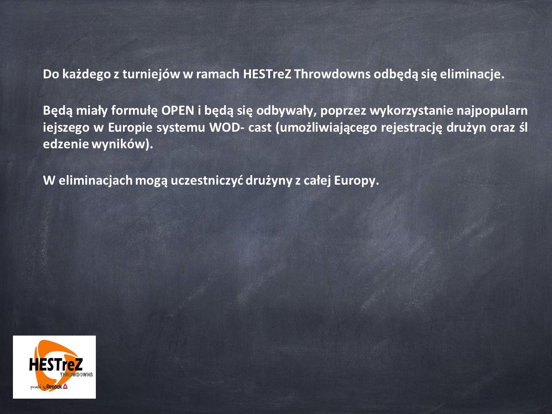 Do każdego z turniejów w ramach HESTreZ Throwdowns odbędą się eliminacje.