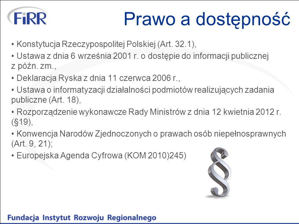 Prawo a dostępność Konstytucja Rzeczypospolitej Polskiej (Art.