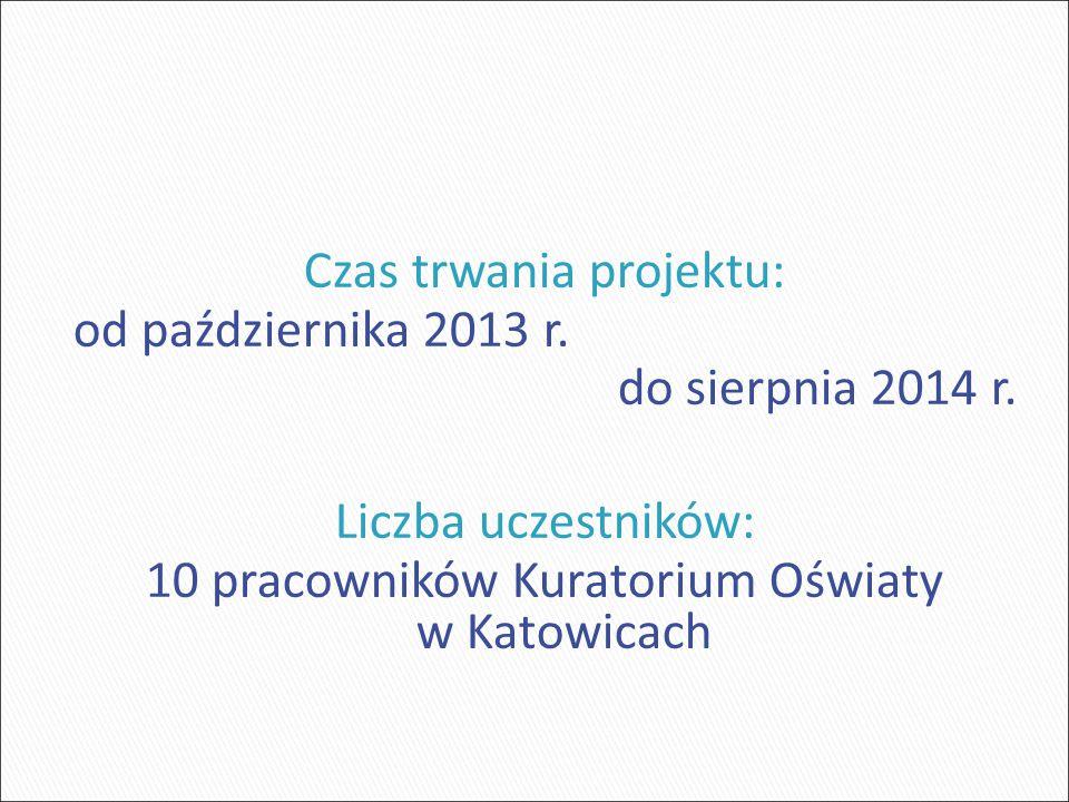 Czas trwania projektu: od października 2013 r. do sierpnia 2014 r.