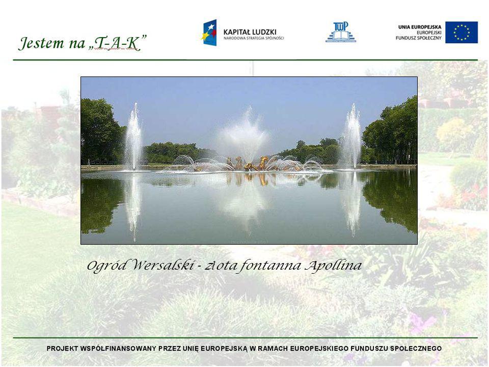 Ogród Wersalski - z ł ota fontanna Apollina
