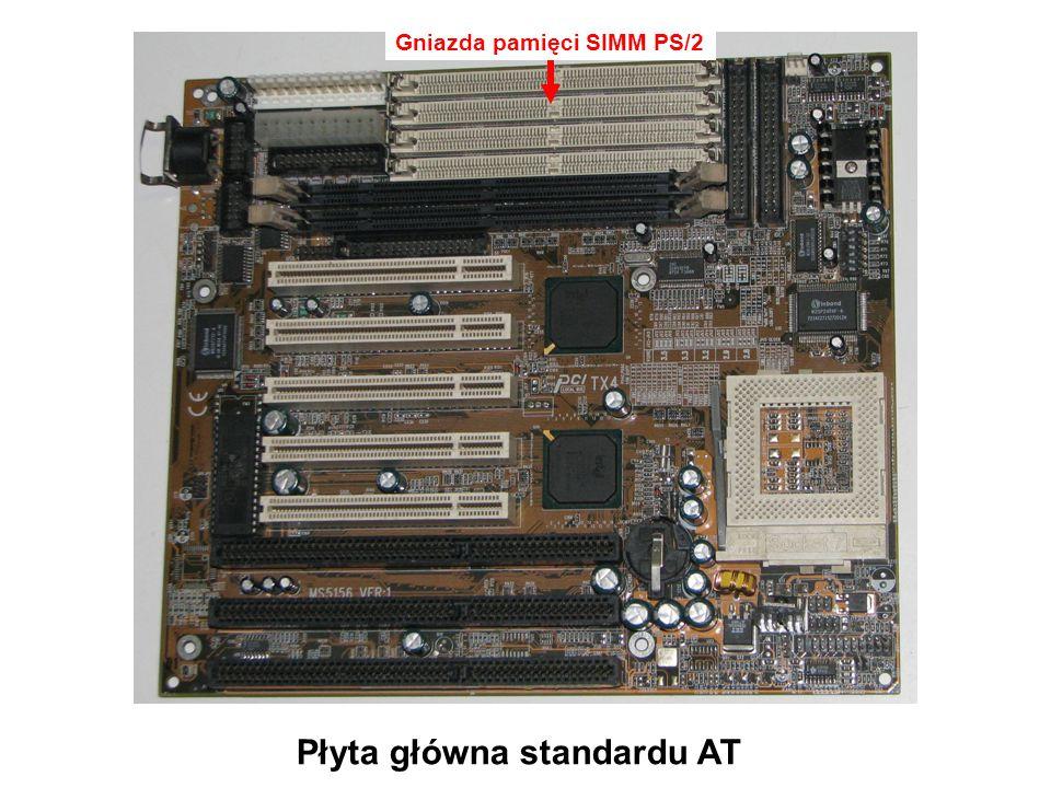 Gniazda pamięci SDRAM Płyta główna standardu AT