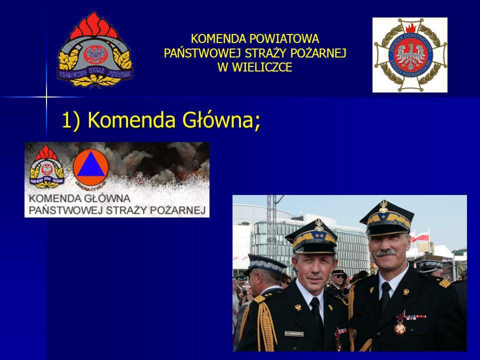 1) Komenda Główna;