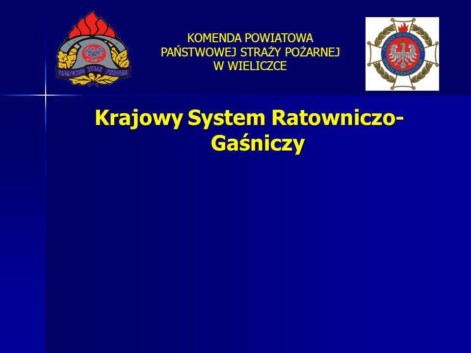 KOMENDA POWIATOWA PAŃSTWOWEJ STRAŻY POŻARNEJ W WIELICZCE Krajowy System Ratowniczo- Gaśniczy