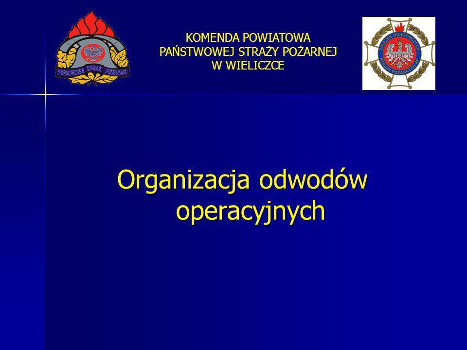 KOMENDA POWIATOWA PAŃSTWOWEJ STRAŻY POŻARNEJ W WIELICZCE Organizacja odwodów operacyjnych
