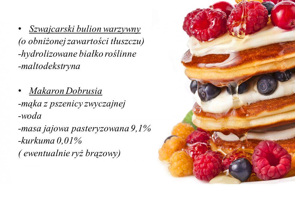Obiad I ZESTAW(wersja zdrowsza) Zupa pomidorowa (skład): śmietana wiejska Rolmlecz 18% (mączka chleba świętojańskiego, E 142) sos pomidorowy mascarpon