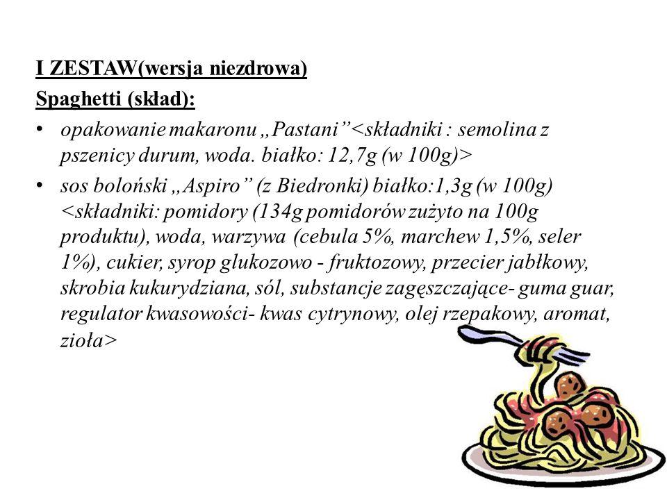 Szwajcarski bulion warzywny (o obniżonej zawartości tłuszczu) -hydrolizowane białko roślinne -maltodekstryna Makaron Dobrusia -mąka z pszenicy zwyczaj