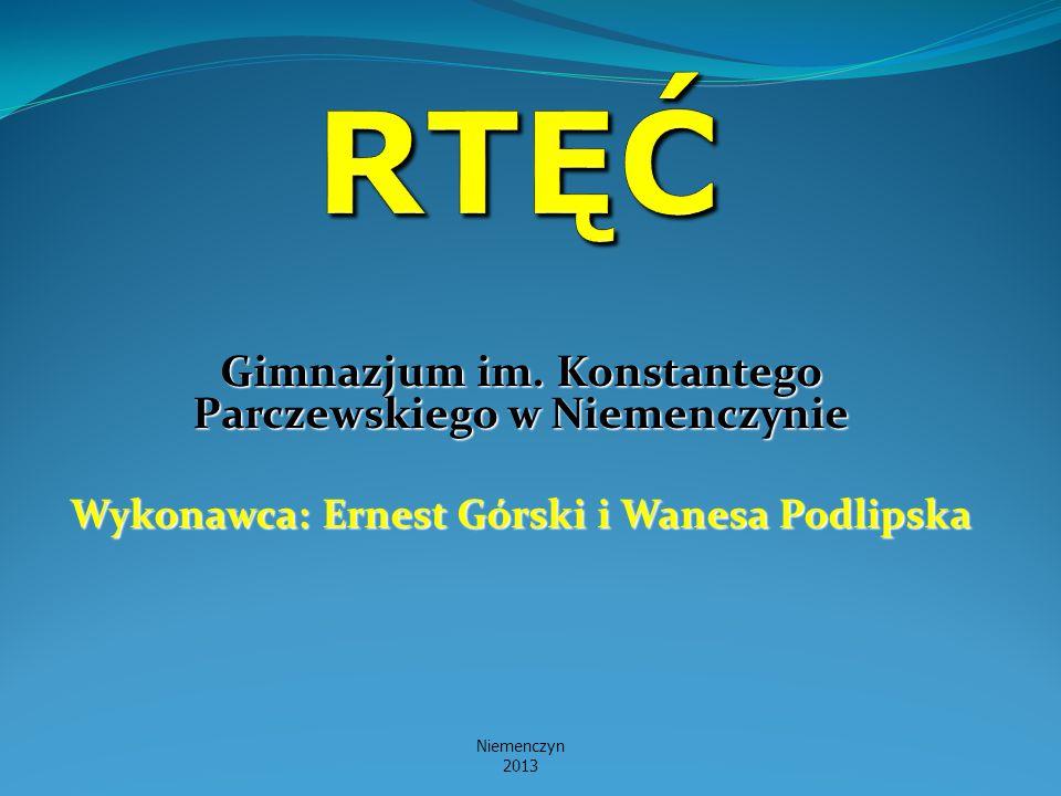 Gimnazjum im. Konstantego Parczewskiego w Niemenczynie Wykonawca: Ernest Górski i Wanesa Podlipska Niemenczyn 2013