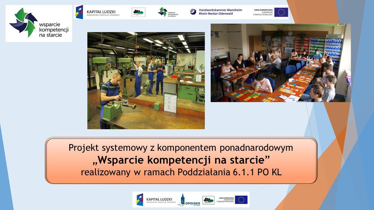 """Projekt systemowy z komponentem ponadnarodowym """"Wsparcie kompetencji na starcie"""" realizowany w ramach Poddziałania 6.1.1 PO KL"""