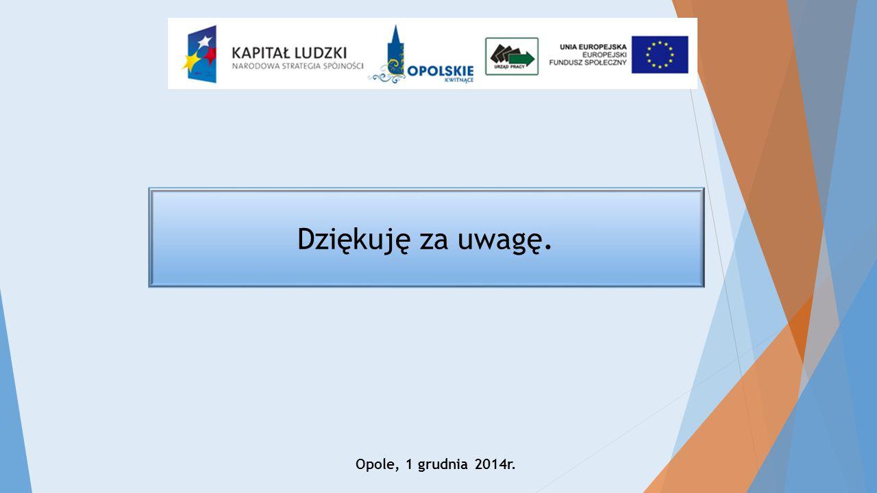 Dziękuję za uwagę. Opole, 1 grudnia 2014r.