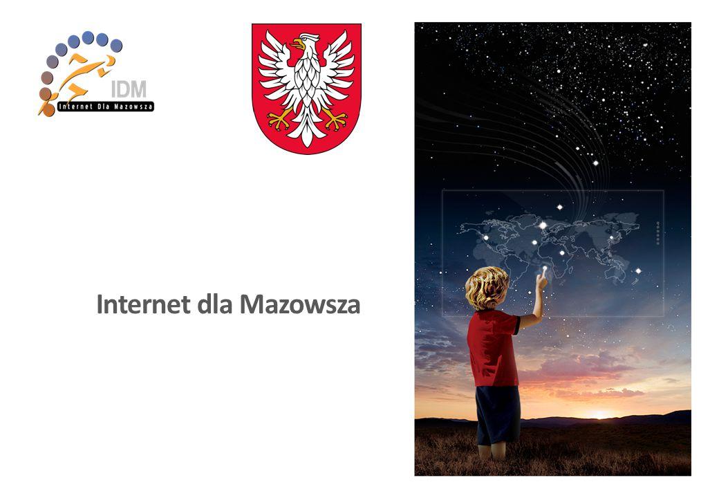 Cel projektu - Sieć dla większości mieszkańców Województwa Mazowieckiego - Równy dostęp do informacji dla każdej warstwy społecznej Termin projektu - Budowa: 10.2013 ~ 10.2015 - Eksploatacja: 10.2015 ~ 10.2022 01 Opisjed.ilość 1) Budowa kanalizacjiKm3,640 2) Dzierżawa IRUKm40 3) Kabel światłowodowyKm5,025 4) NGA(FTTB) (około)Km1,000 5) Węzły szkieletowe sieciSzt.42 6) Węzły dystrybucyjne sieciSzt.308