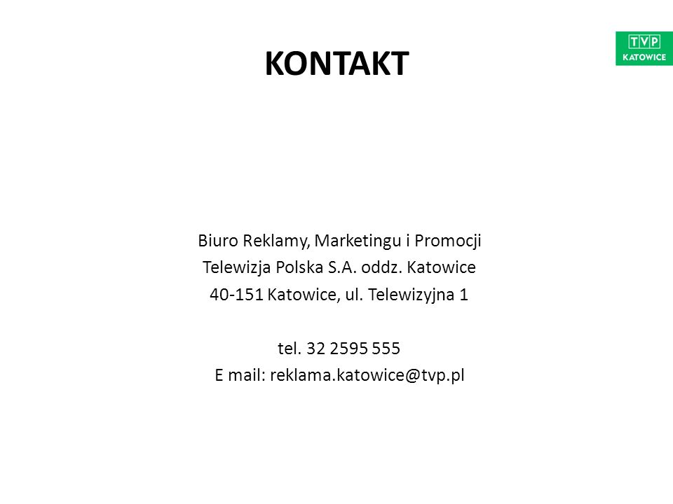 KONTAKT Biuro Reklamy, Marketingu i Promocji Telewizja Polska S.A.