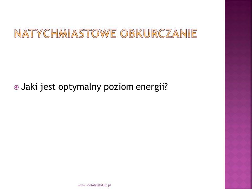  Jaki jest optymalny poziom energii www.violetinstytut.pl