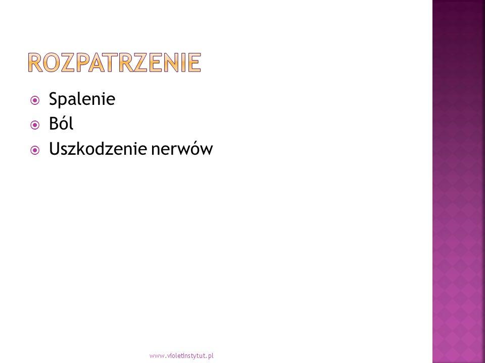  Spalenie  Ból  Uszkodzenie nerwów www.violetinstytut.pl