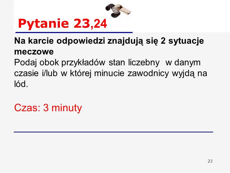 """22 Pytanie 22. Sędzia liniowy sygnalizuje odłożony spalony na drużynę """"A ."""