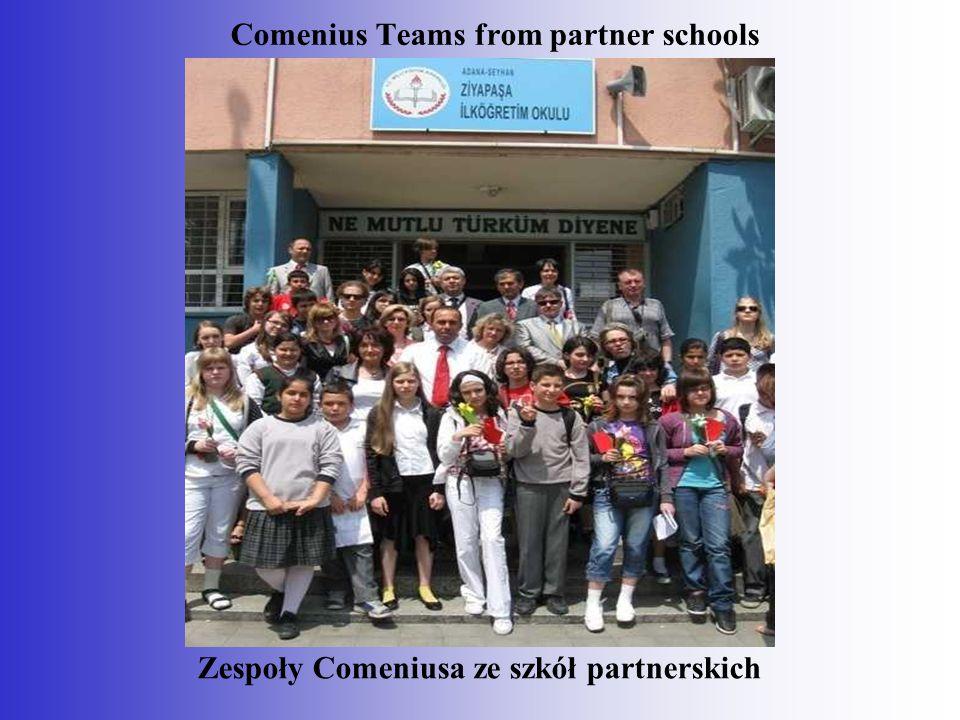 Zespoły Comeniusa ze szkół partnerskich Comenius Teams from partner schools