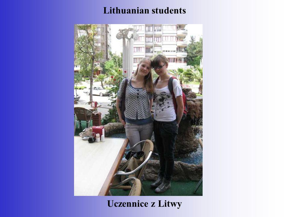 Uczennice z Litwy Lithuanian students